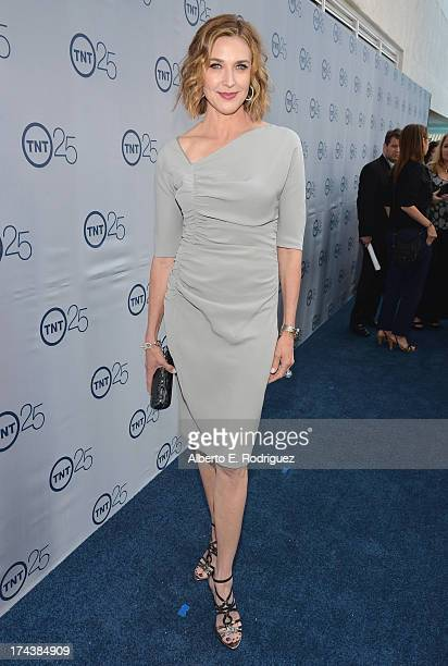 Actress Brenda Strong arrives to TNT's 25th Anniversary Party at The Beverly Hilton Hotel on July 24 2013 in Beverly Hills California