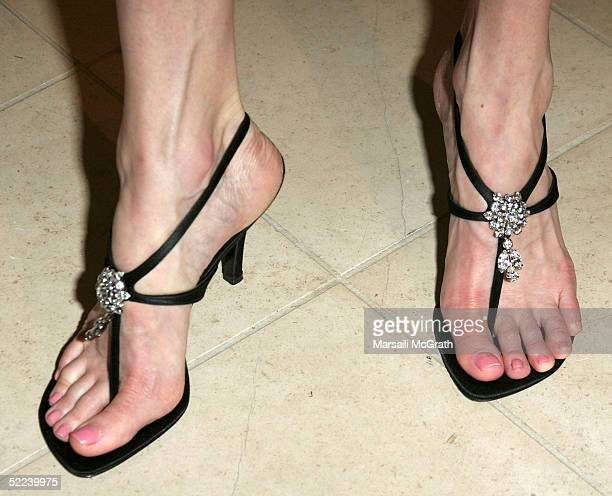 Actress Brenda Strong at the unveiling of the special shoes that Actress Regina King will be wearing to the Academy Awards Designed by Celebrity shoe...