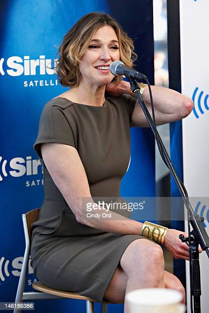 Actress Brenda Strong of TNT's Dallas sits down with the entire cast for an interview on SiriusXM's Morning Jolt with Larry Flick at the SiriusXM...