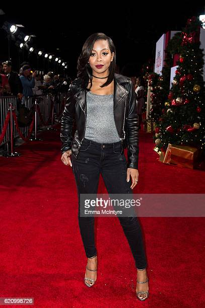 Actress Bresha Webb arrives at the premiere of Universal's 'Almost Christmas' at Regency Village Theatre on November 3 2016 in Westwood California
