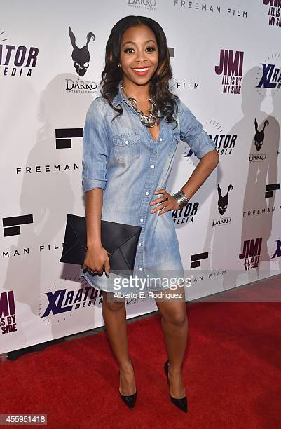 Actress Bresha Webb arrives to the Los Angeles premiere of Jimi All Is By My Side at ArcLight Cinemas on September 22 2014 in Hollywood California