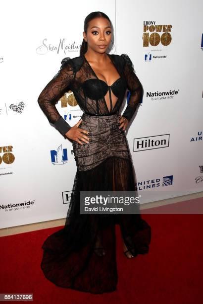 Actress Bresha Webb attends Ebony Magazine's Ebony's Power 100 Gala at The Beverly Hilton Hotel on December 1 2017 in Beverly Hills California