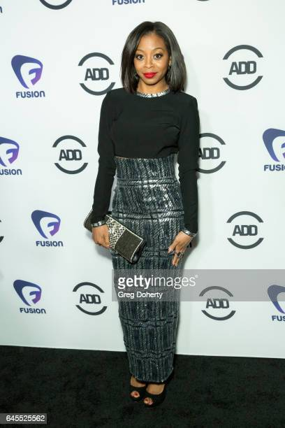 Actress Bresha Webb attends the 2nd Annual All Def Movie Awards at Belasco Theatre on February 22 2017 in Los Angeles California