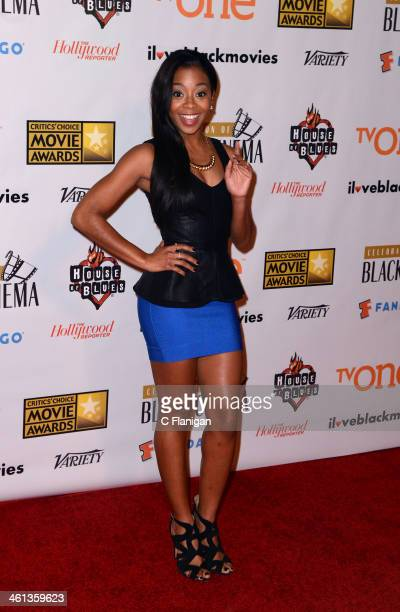 Actress Bresha Webb attends the celebration of black cinema hosted by Broadcast Film Critics Association at House of Blues Sunset Strip on January 7...