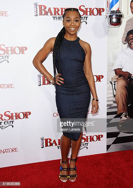Actress Bresha Webb attends the premiere of Barbershop The Next Cut at TCL Chinese Theatre on April 6 2016 in Hollywood California