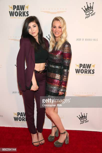 Actress Briana Cuoco and Paw Works Celebrity Ambassador/Board Member Kaley Cuoco attends the James Paw 007 Ties Tails Gala at the Four Seasons...