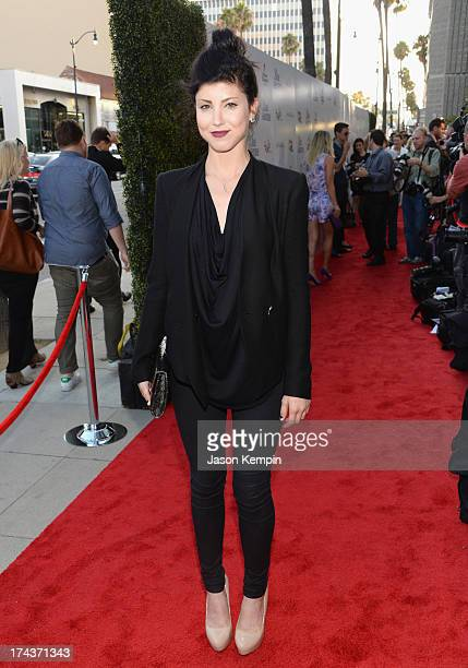 Actress Briana Cuoco arrives at the premiere of Blue Jasmine hosted by AFI Sony Picture Classics at AMPAS Samuel Goldwyn Theater on July 24 2013 in...