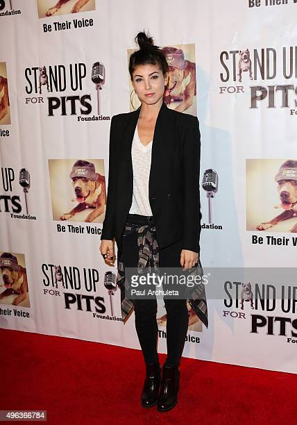 Actress Briana Cuoco attends the Stand Up For Pits comedy benefit at The Improv on November 8 2015 in Hollywood California