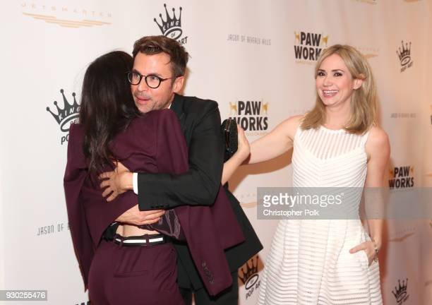 Actress Briana Cuoco Paw Works Celebrity Ambassador Brad Goreski and actress Ashley Jones attend the James Paw 007 Ties Tails Gala at the Four...