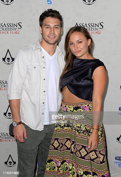 Actress Briana Evigan and guest attend Schick Hydro and Assassin's Creed IV Black Flag VIP Event Aboard The Jackdaw Ship during Comic Con on July 19...