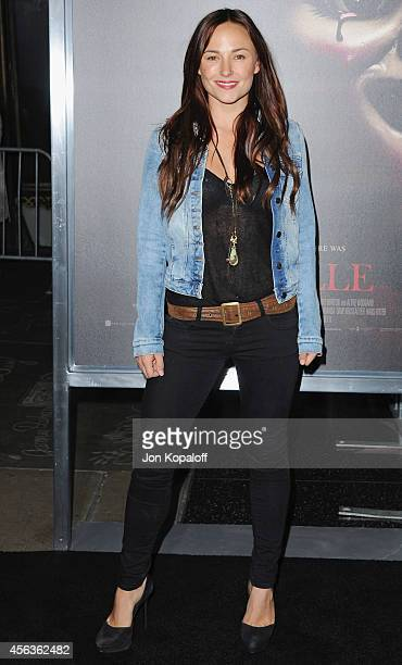 Actress Briana Evigan arrives at the Los Angeles Premiere Annabelle at TCL Chinese Theatre on September 29 2014 in Hollywood California