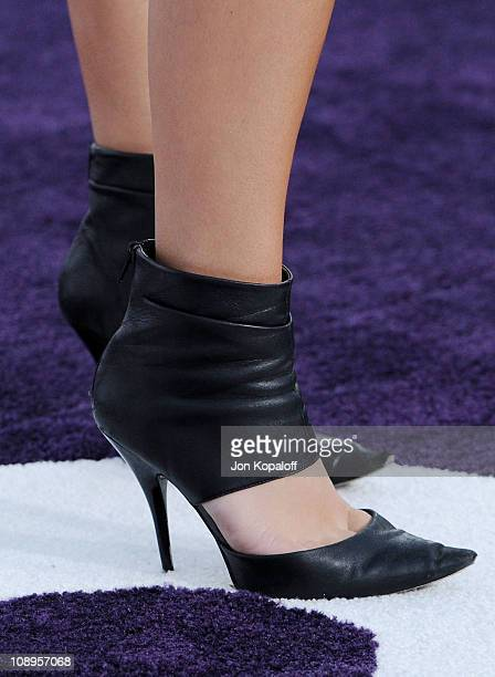 Actress Briana Evigan arrives at the Los Angeles Premiere 'Justin Bieber Never Say Never' at Nokia Theatre LA Live on February 8 2011 in Los Angeles...