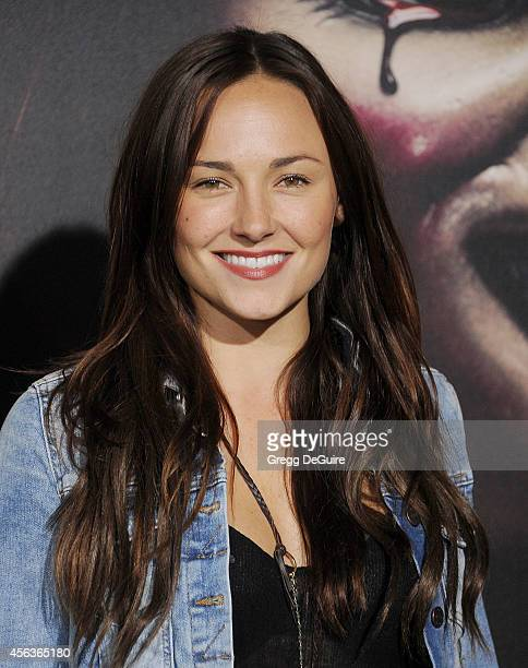 Actress Briana Evigan arrives at the Los Angeles Special Screening Of New Line Cinema's Annabelle at TCL Chinese Theatre on September 29 2014 in...