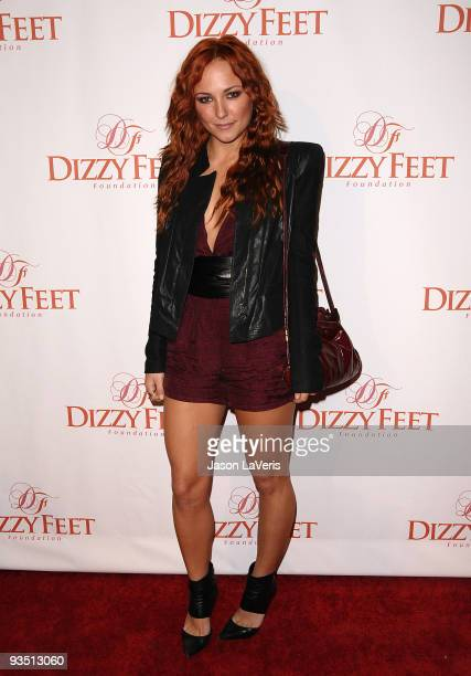 Actress Briana Evigan attends Dizzy Feet Foundation's Celebration of Dance at the Kodak Theatre on November 29 2009 in Hollywood California