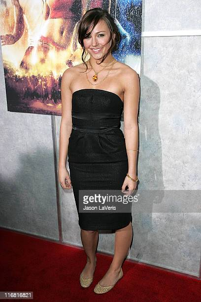 Actress Briana Evigan attends Step Up 2 The Streets World Premiere at ArcLight Cinemas on February 4 2008 in Hollywood California