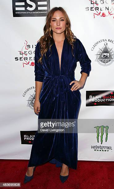 Actress Briana Evigan attends the premiere of Alleluia The Devil's Carnival at the Egyptian Theatre on August 11 2015 in Hollywood California