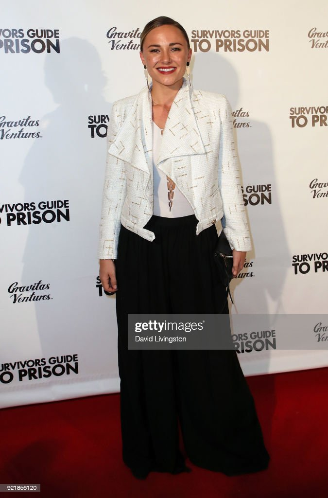 Actress Briana Evigan attends the premiere of Gravitas Pictures' 'Survivors Guide to Prison' at The Landmark on February 20, 2018 in Los Angeles, California.