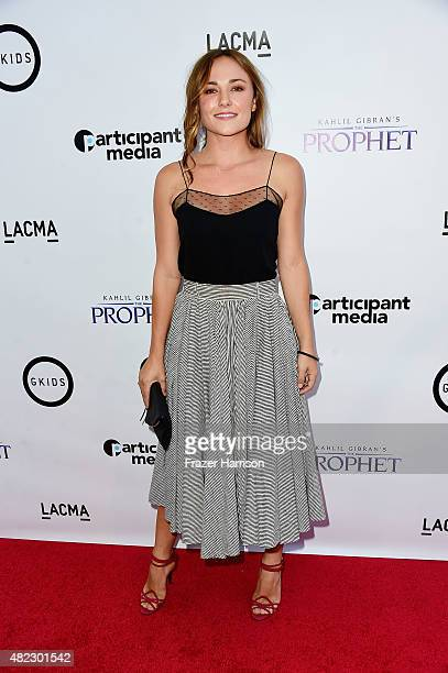 Actress Briana Evigan attends the screening of GKIDS' Kahlil Gibran's The Prophet at Bing Theatre at LACMA on July 29 2015 in Los Angeles California