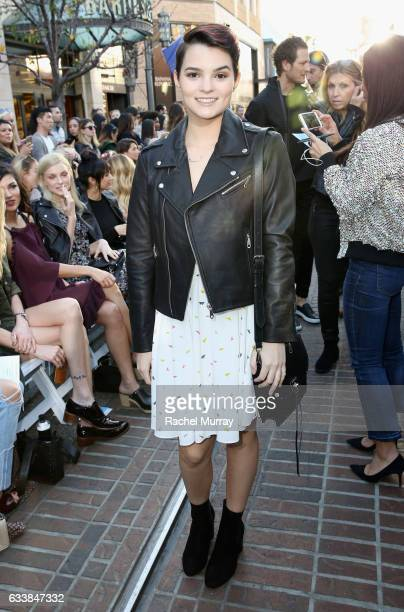 "Actress Brianna Hildebrand attended designer Rebecca Minkoff's Spring 2017 ""See Now Buy Now"" Fashion Show at The Grove on February 4 2017 in Los..."