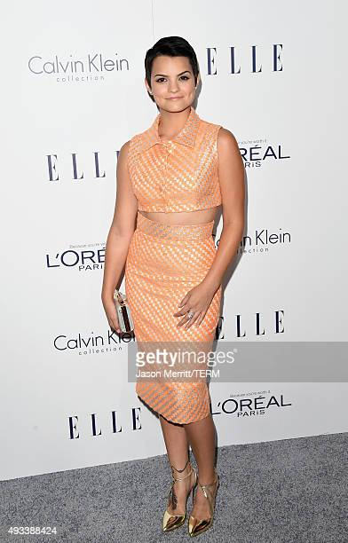 Actress Brianna Hildebrand attends the 22nd Annual ELLE Women in Hollywood Awards at Four Seasons Hotel Los Angeles at Beverly Hills on October 19...