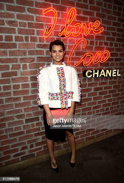 Actress Brianna Hildebrand attends the I Love Coco Backstage Beauty Lounge at Chateau Marmont's Bar Marmont on February 25 2016 in Hollywood...