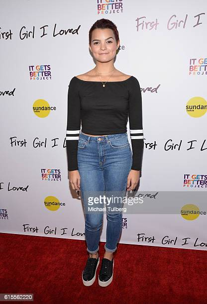 Actress Brianna Hildebrand attends the premiere of PSH Collective's 'First Girl I Loved' at the Vista Theatre on October 18 2016 in Los Angeles...