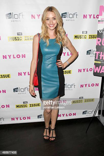Actress Brianne Howey attends NYLON x Aloft Hotels celebrate The Music Issue with cover star HAIM on May 26 2014 in Los Angeles California