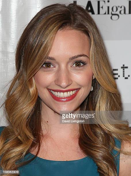 Actress Brianne Howey attends the LA EigaFest Opening Night Gala at the Egyptian Theatre on December 14, 2012 in Hollywood, California.
