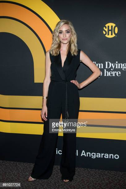 """Actress Brianne Howey attends the premiere of Showtime's """"I'm Dying Up Here"""" at DGA Theater on May 31, 2017 in Los Angeles, California."""