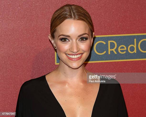 Actress Brianne Howey attends the QVC 5th Annual Red Carpet Style event at The Four Seasons Hotel on February 28, 2014 in Beverly Hills, California.