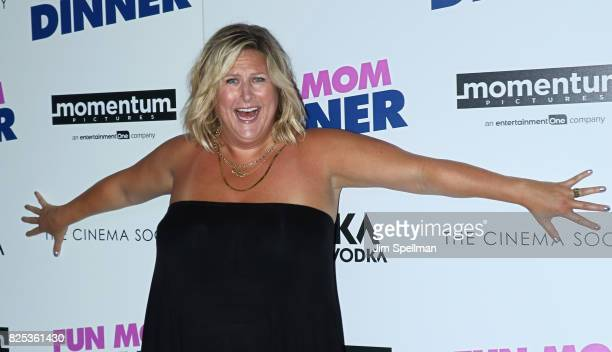 Actress Bridget Everett attends the screening of Fun Mom Dinner hosted by Momentum Pictures with The Cinema Society and SVEDKA at Landmark Sunshine...