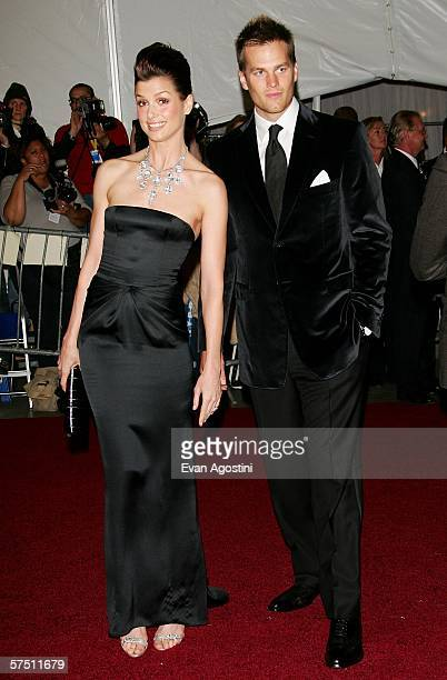 Actress Bridget Moynahan and boyfriend Tom Brady attend the Metropolitan Museum of Art Costume Institute Benefit Gala AngloMania Tradition and...