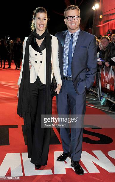 """Actress Bridget Moynahan and director Joseph McGinty aka """"McG"""" attend the UK premiere of 'This Means War' at ODEON Kensington on January 30, 2012 in..."""