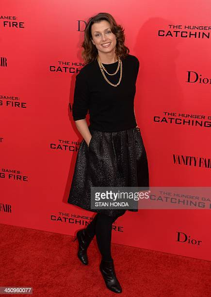 Actress Bridget Moynahan arrives at a special screening of 'The Hunger Games Catching Fire' November 20 2013 in New York AFP PHOTO/Stan HONDA