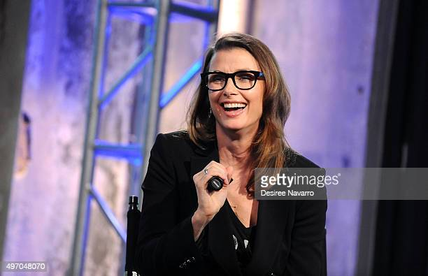 """Actress Bridget Moynahan attends AOL BUILD Presents: Bridget Moynahan Discusses Her New Cookbook """"The Blue Bloods Cookbook"""" at AOL Studios In New..."""