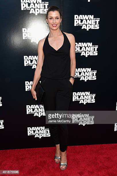 Actress Bridget Moynahan attends the Dawn Of The Planets Of The Apes premiere at Williamsburg Cinemas on July 8 2014 in New York City