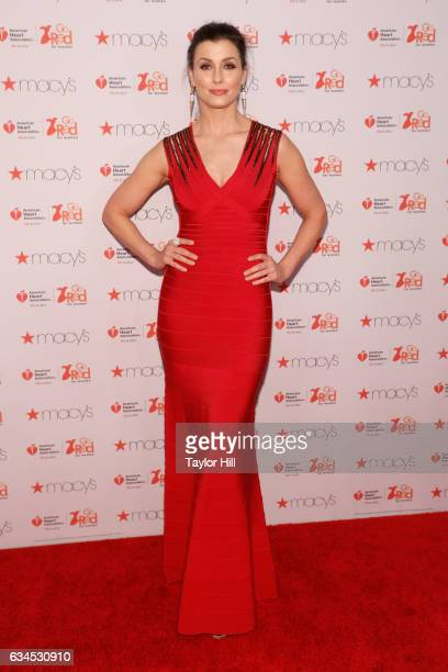Actress Bridget Moynahan attends the 'Go Red for Women' fashion show during Fall 2017 New York Fashion Week at Hammerstein Ballroom on February 9...