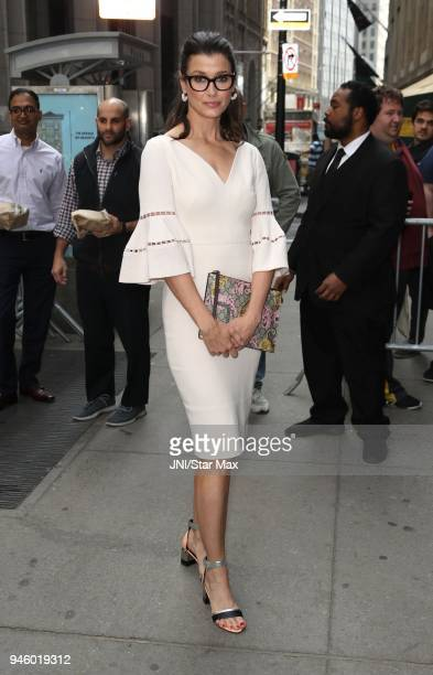 Actress Bridget Moynahan is seen on April 13, 2018 in New York City.