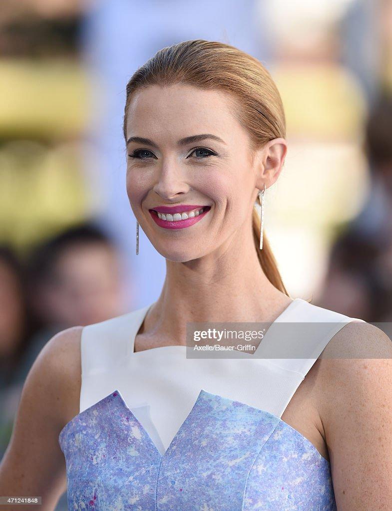 Actress Bridget Regan arrives at the 2015 MTV Movie Awards at Nokia Theatre L.A. Live on April 12, 2015 in Los Angeles, California.