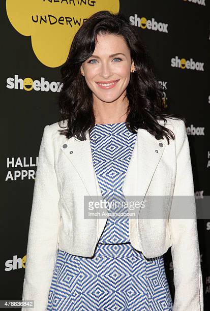 Actress Bridget Regan attends Shoebox's 29th Birthday Celebration hosted by Rob Riggle at The Improv on June 10 2015 in Hollywood California