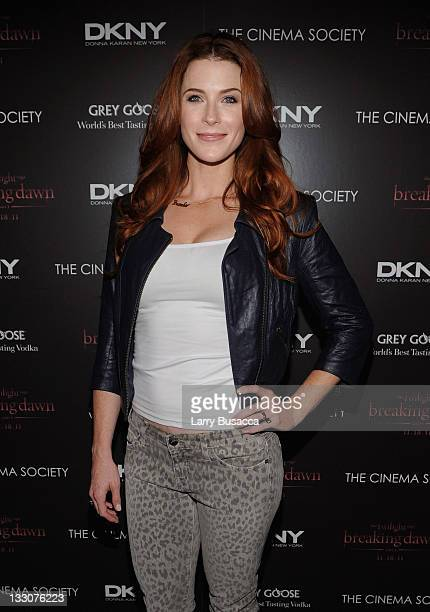 Actress Bridget Regan attends the Cinema Society DKNY screening of The Twilight Saga Breaking Dawn Part 1 at Landmark Sunshine Cinema on November 16...