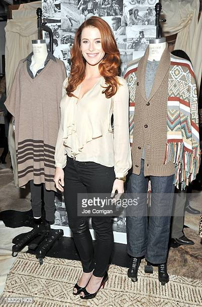 Actress Bridget Regan attends the Haute Hippie Launches Haute Hoodie party at 211 Elizabeth Street on November 17 2011 in New York City