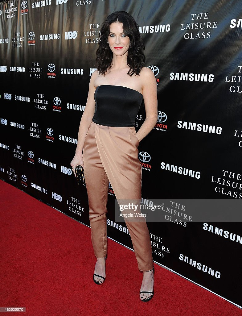 Actress Bridget Regan attends the Project Greenlight Season 4 Winning Film premiere 'The Leisure Class' presented by Matt Damon, Ben Affleck, Adaptive Studios and HBO at The Theatre at Ace Hotel on August 10, 2015 in Los Angeles, California.