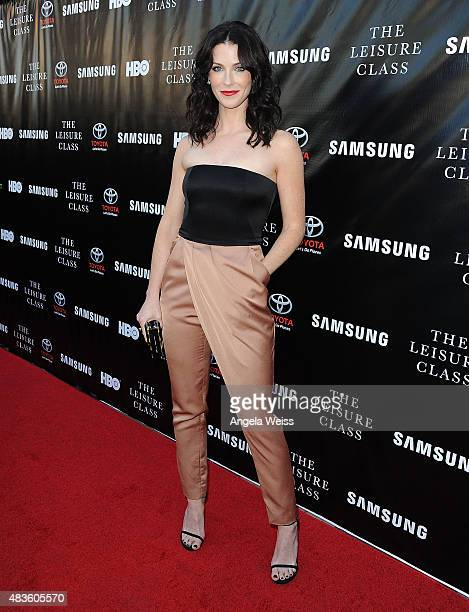 "Actress Bridget Regan attends the Project Greenlight Season 4 Winning Film premiere ""The Leisure Class"" presented by Matt Damon, Ben Affleck,..."