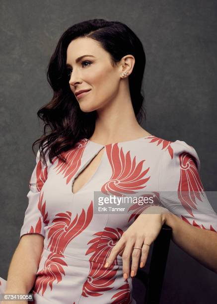 Actress Bridget Regan from 'Devil's Gate' poses at the 2017 Tribeca Film Festival portrait studio on on April 24 2017 in New York City