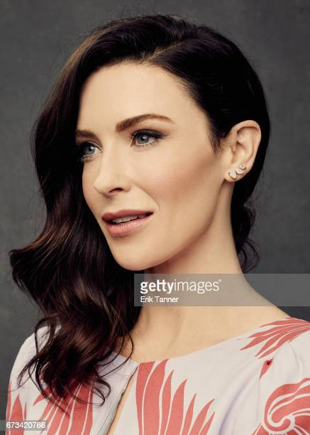 Actress Bridget Regan from 'Devil's Gate' poses at the 2017 Tribeca Film Festival portrait studio on on April 24, 2017 in New York City.