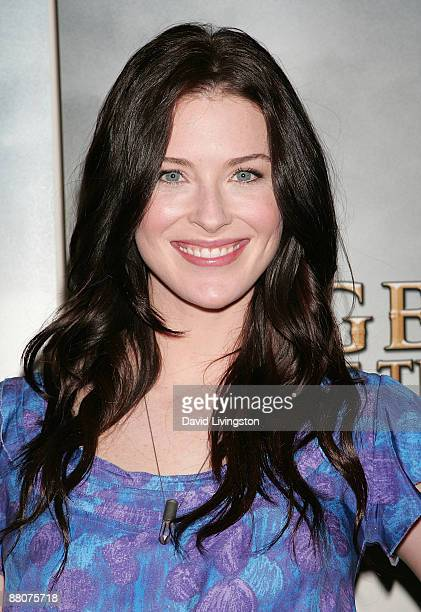 Actress Bridget Regan from the television show Legend of the Seeker attends the 2009 Disney ABC Television Group summer press junket at the Walt...