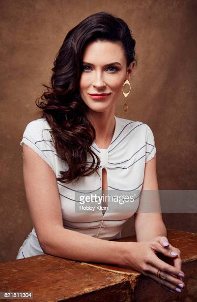 Actress Bridget Regan from TNT's 'The Last Ship' poses for a portrait during ComicCon 2017 at Hard Rock Hotel San Diego on July 23 2017 in San Diego...
