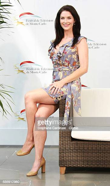 Actress Bridget Regan poses at a photocall for the TV series 'LEGEND OF THE SEEKER' during the 2010 Monte Carlo Television Festival held at Grimaldi...
