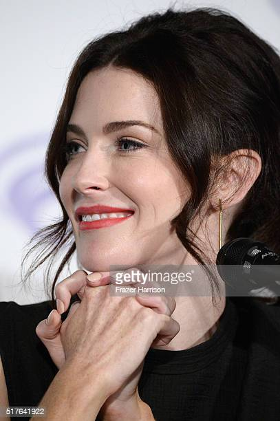 Actress Bridget Regan speaks on 'The Last Ship' panel TNT at Wondercon 2016 at Los Angeles Convention Center on March 26 2016 in Los Angeles...